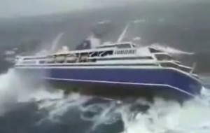 The cruise ship that got caught in the storm
