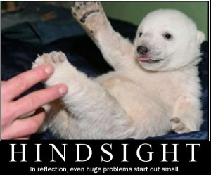Most things are only visible in hindsight.