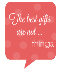 "Are you the gift, or are you the gift giver? Do ""they"" feel they need to give you a gift?"