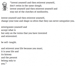 Time to reinvent yourself as someone you can love