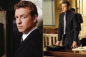 Simon Baker in his role as Nick Fallin in television series